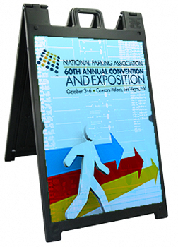 Aframe Sign used for Directional Signage at a Convention