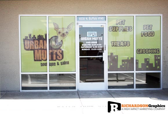 Urban Mutts Window Graphics