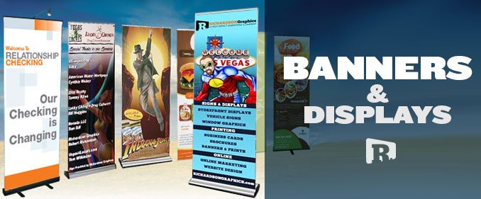 Banners and Popup Banner Stand Displays