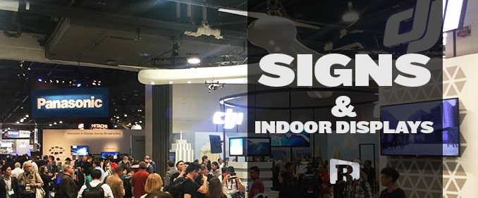 Indoor Signage at a Tradeshow