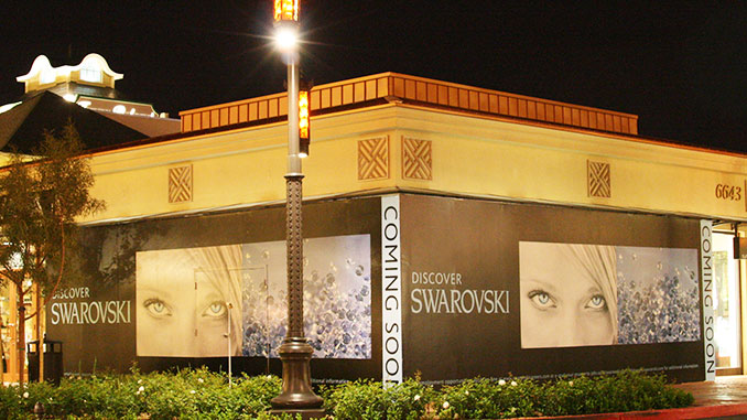 Mall Barricade Wall Wrap in Las Vegas