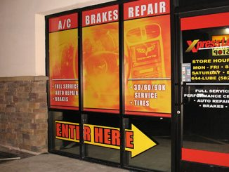 Window Lettering for a Car Shop