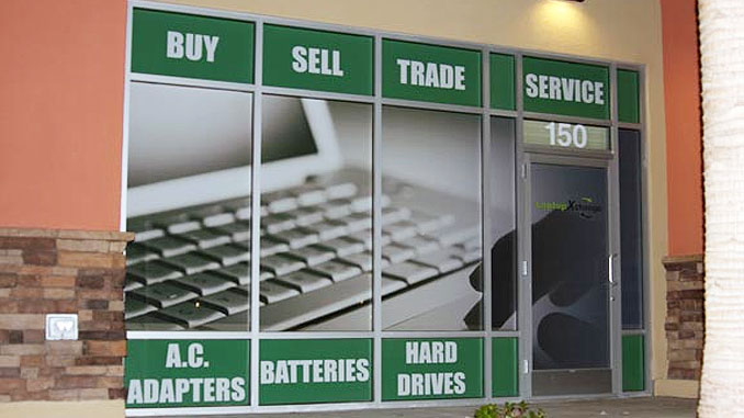 Window Signs for a Computer Store